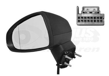 Buitenspiegel elektrisch verstelbaar links | verwarmd/zwart 6Pi Audi A1 (8X)